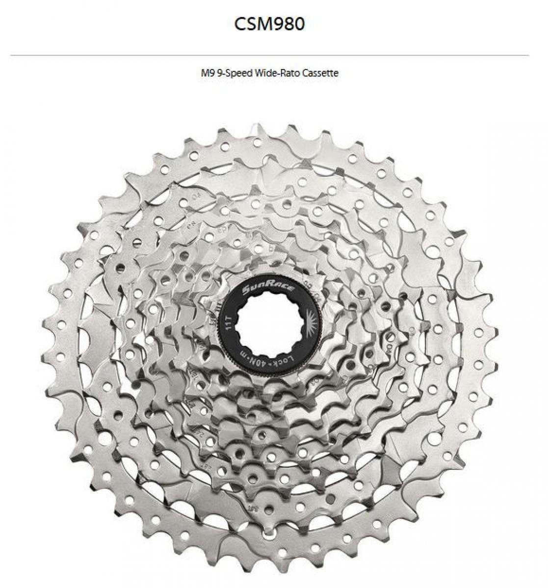 Cycling Sunrace M9 9-speed 11-40t Cassette
