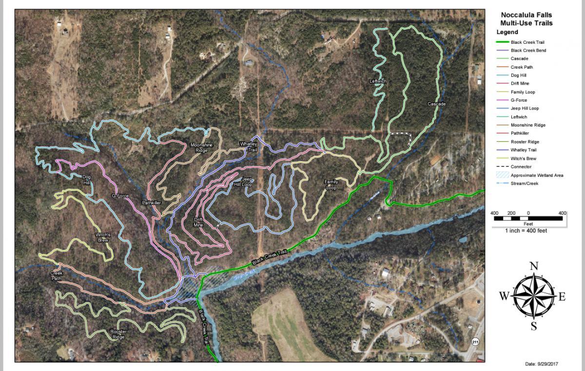 Noccalula Park Mountain Bike Trail in Gadsden, Alabama ...