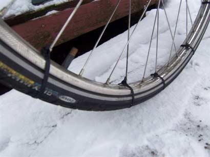 Zip ties for bike tires