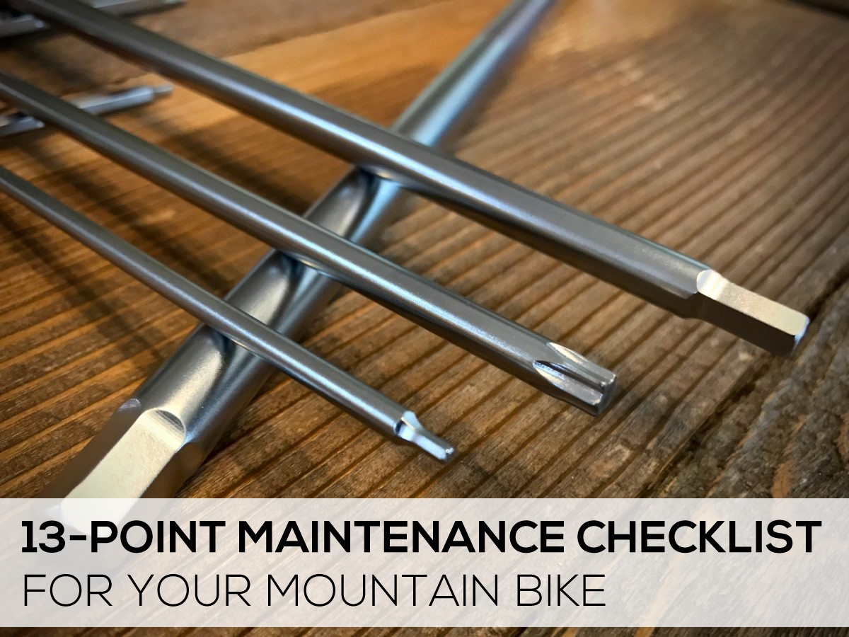 13 point maintenance checklist for your mountain bike