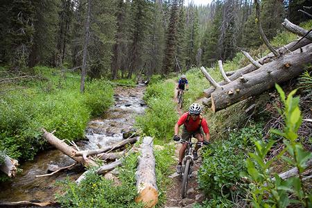 photos from a Western Spirit bike tour in the mountains around Stanley, Idaho