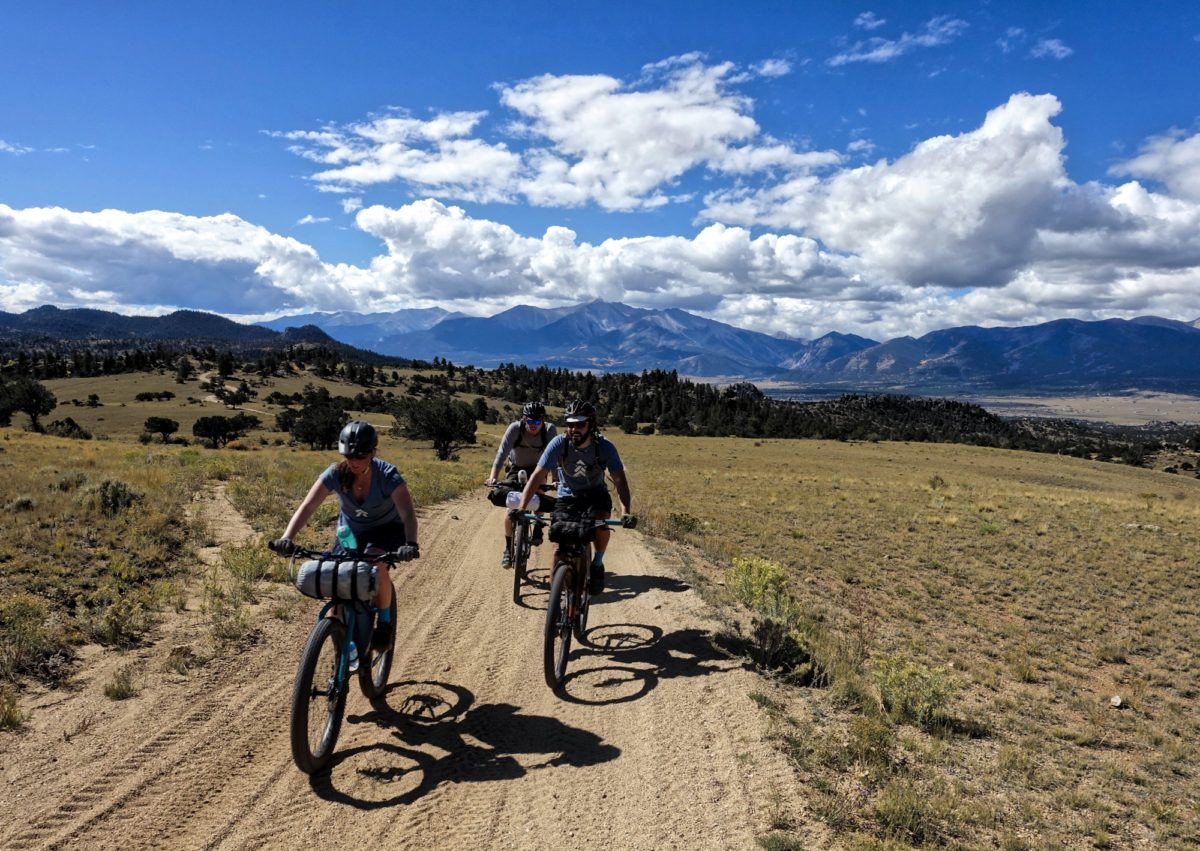 Bikepacking in Colorado. Riders: Lindsay Arne, Neil Beltchenko, and Philip Sterling. Photo: Greg Heil