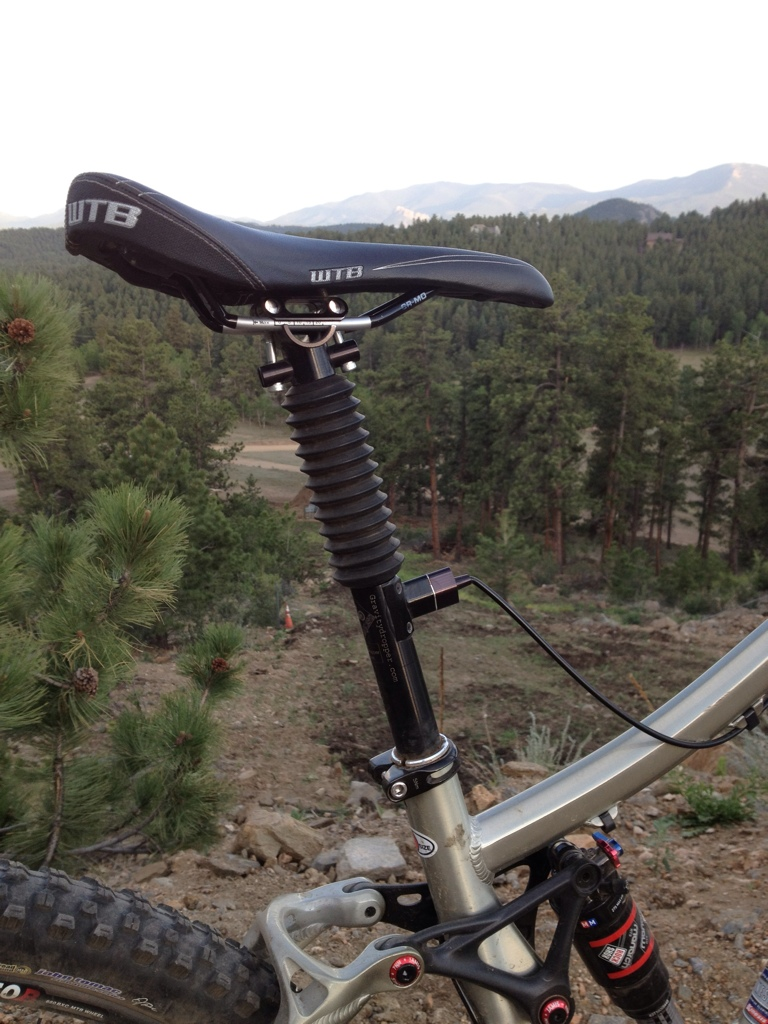 E Bike Reviews >> Gravity Dropper Turbo Seatpost Review - Singletracks ...