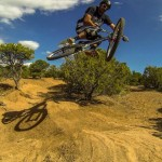 """""""Getting used to the lines at the Trash Pit - La Tierra Trails in Santa Fe, NM. Great place for a little bit of everything - XC, Freeride, Dirt Jumping, even some stuff you can bring the big bike for. Self portrait."""" Photo: Jerry Hazard."""