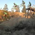 """Kamloops Bike Ranch Drop Sequence."" Rider: Graeme. Photo: Mike Fehr."