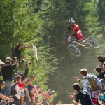 """The Un-official Whip-off event as part of Crankworx 2012."" British Columbia. Photo: Mike Crane."
