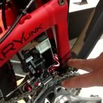 Rear suspension linkage.