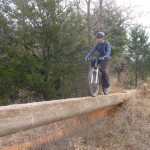 A nicely elevated log bridge on the Black Trail at Draper