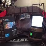 """""""I was blessed with a sick Royal Racing storm shell to keep my dry, a super sleek lantern for all my overnight camping/riding trips, and a GoPro 3+ to capture it all! Pretty stoked!"""" Photo: Stephen Bartone."""