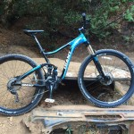 """""""My Christmas gift from my whole family, everyone contributed a bit of money and I saved up the rest. A 2014 Giant Trance X2 29er!"""" Photo: Sean Walton."""