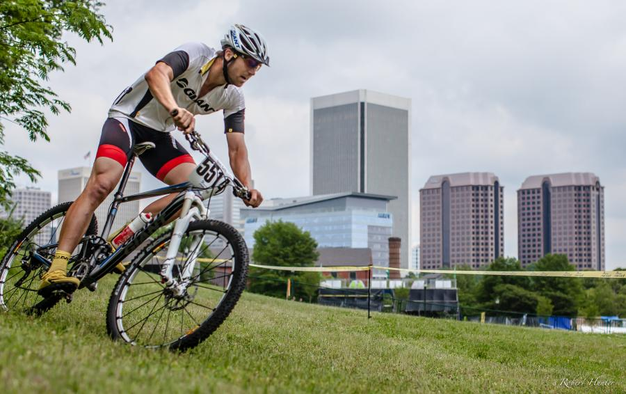 Racing mountain bikes in the heart of Richmond, Virginia. Photo: Robert Hunter.