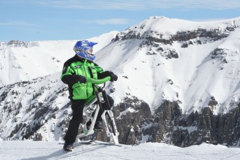 Type II ski bikes are designed to handle serious downhill terrain. Photo: lenzsport.com