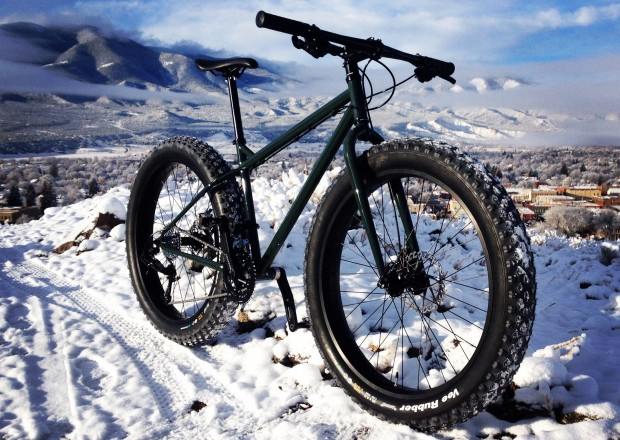 Big Ol' Fat Bike, with stock Vee Rubber Mission tires.