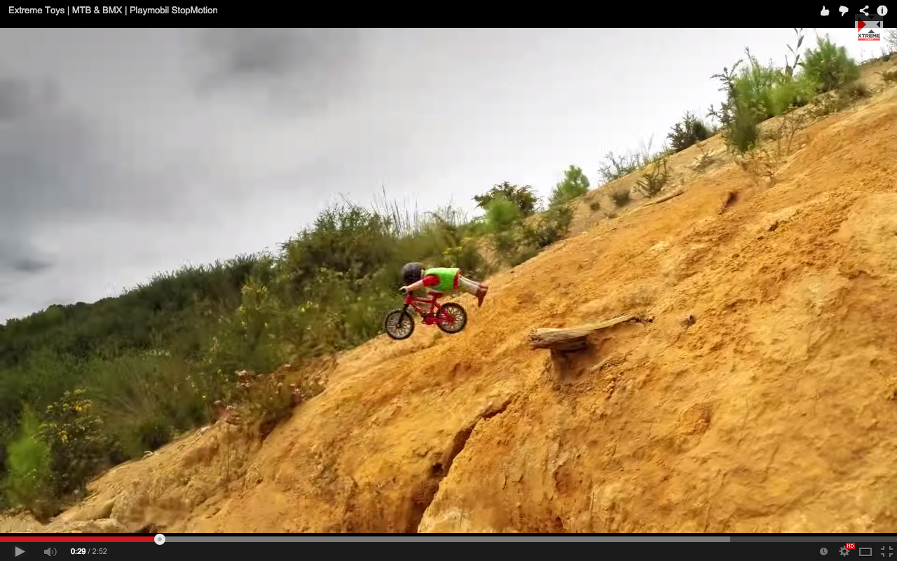 Video Stopmotion Mountain Biking Singletracks Mountain