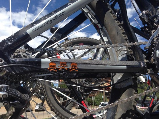 Duct tape helped protect a blown tire on a ride in Steamboat Springs.