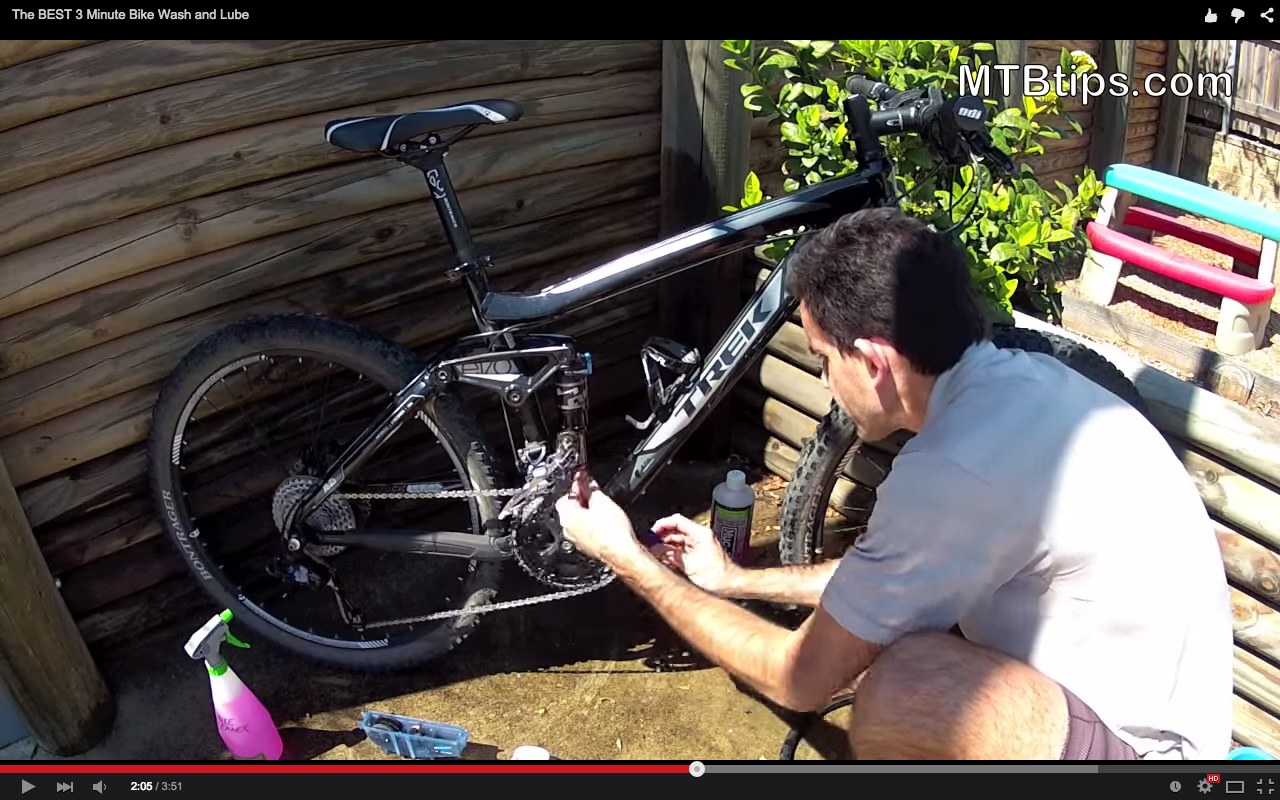 The Best 3-Minute Bike Wash and Lube