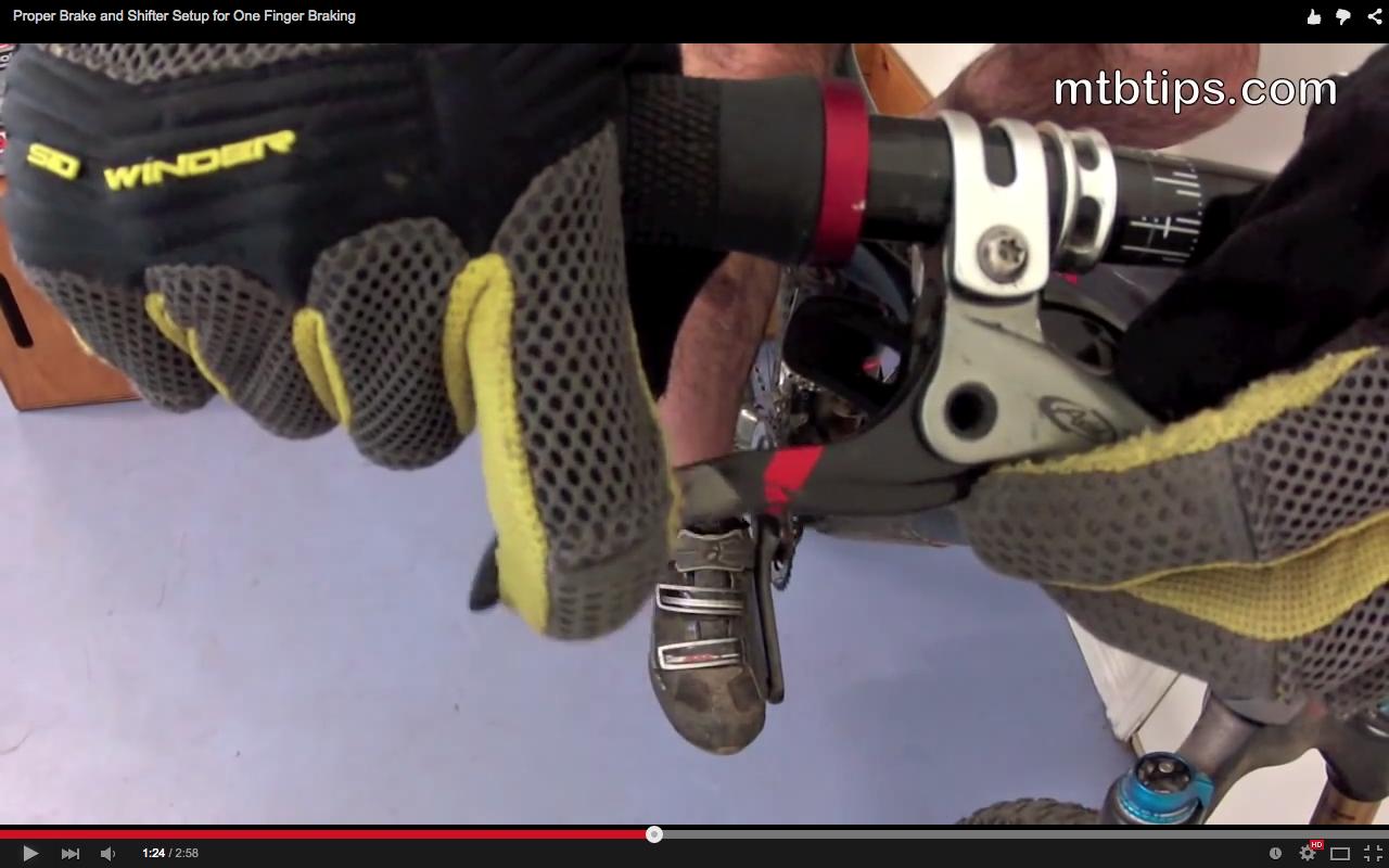 Video: Proper Brake and Shifter Setup for One Finger Braking - Singletracks Mountain Bike News
