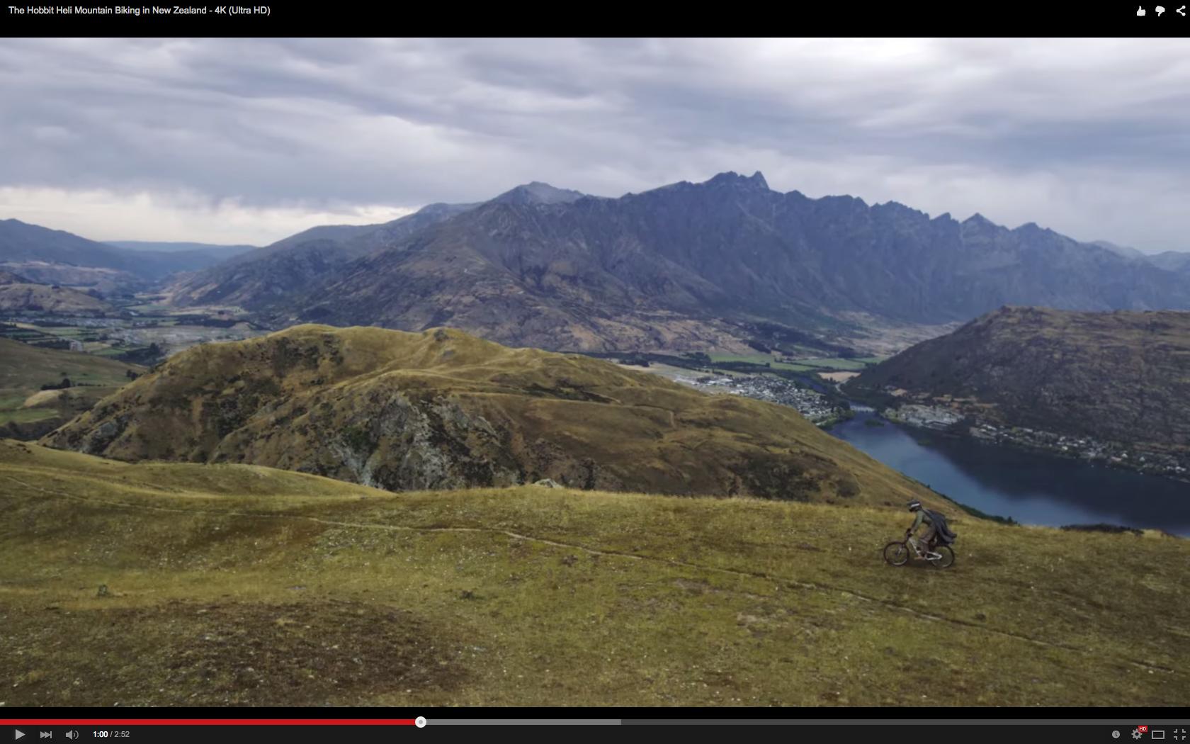 Video The Hobbit Heli Mountain Biking In New Zealand 4k Ultra Hd