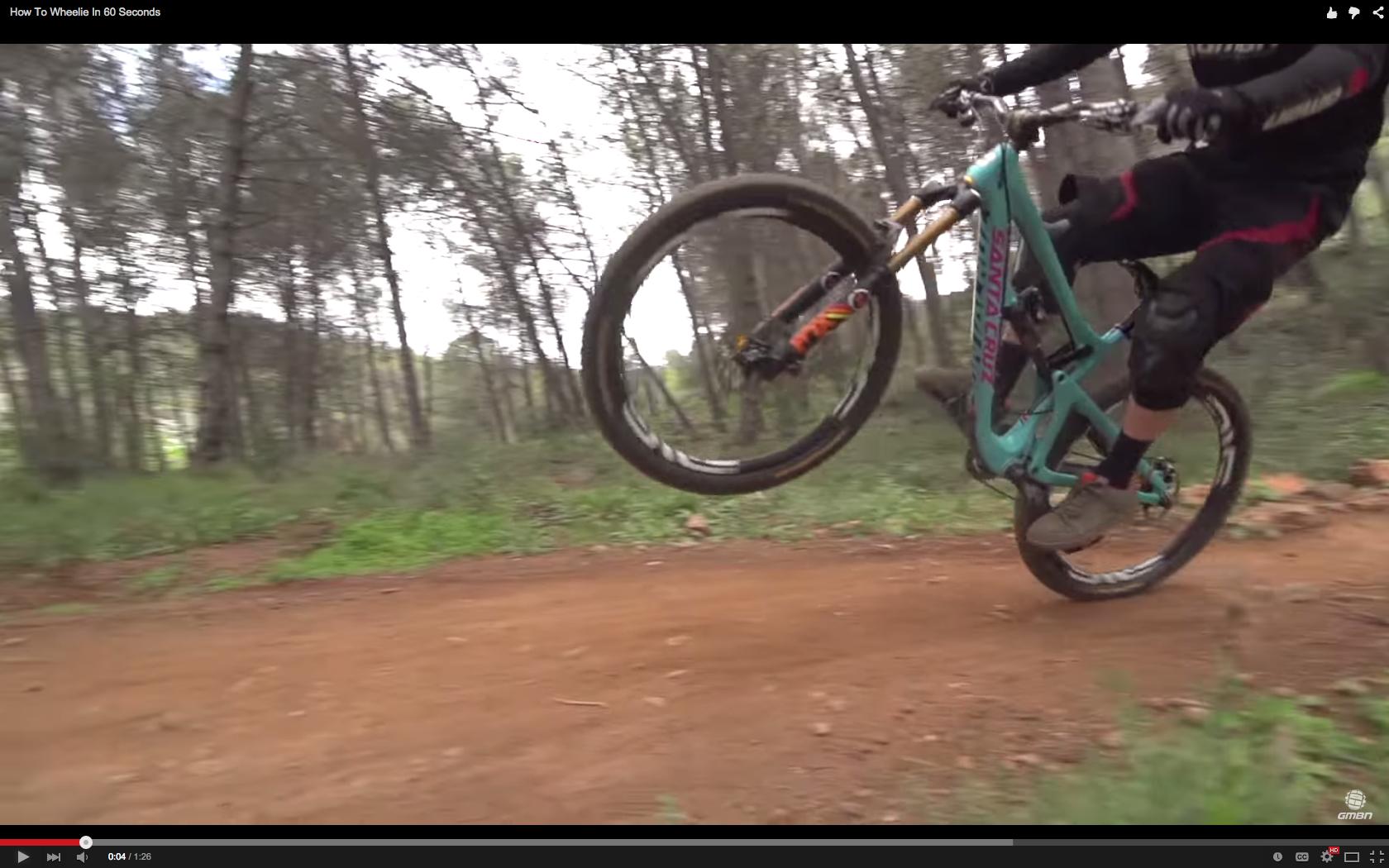 Video How To Wheelie In 60 Seconds Singletracks