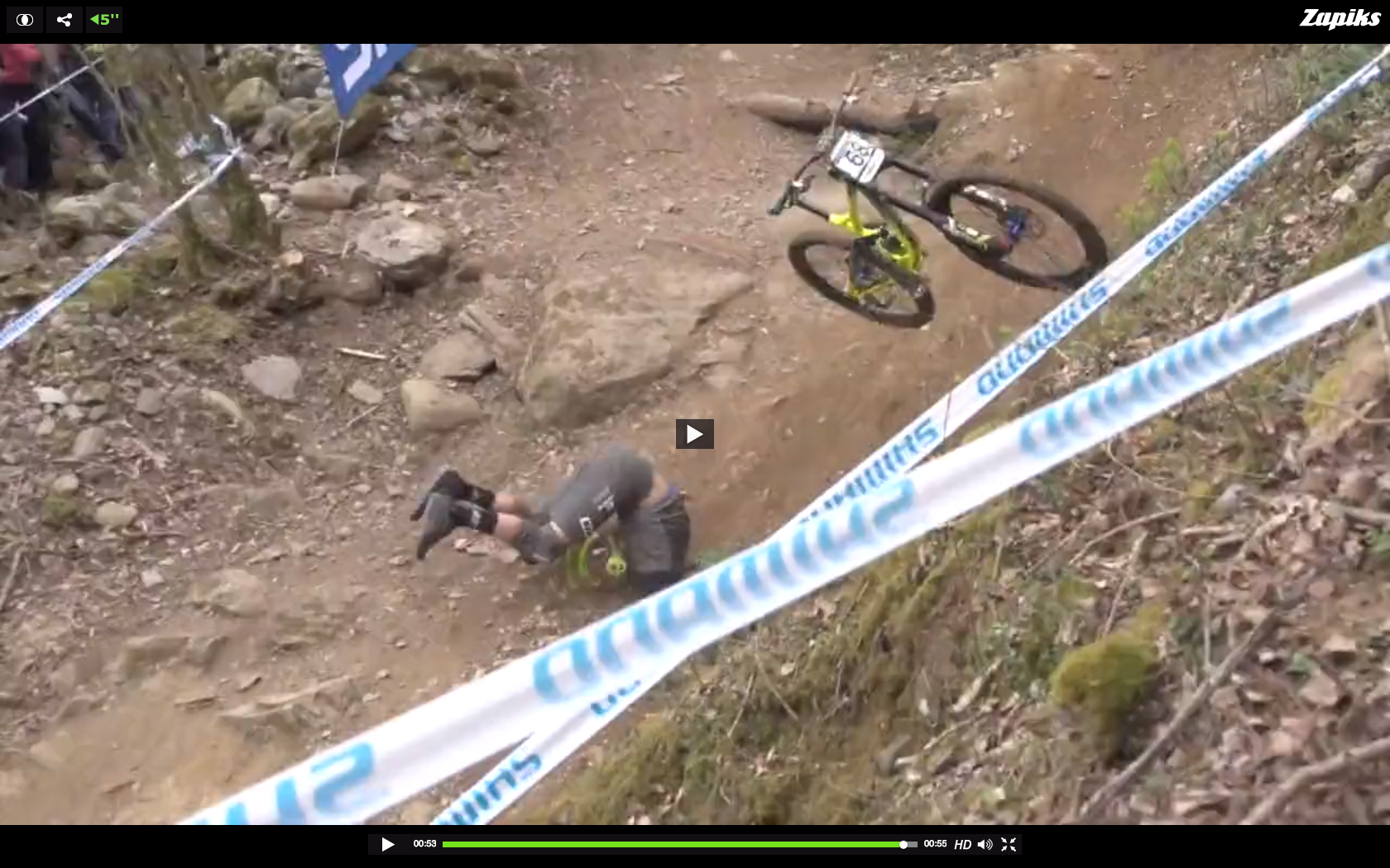 The Most Brutal Crashes from the Lourdes World Cup Downhill Race