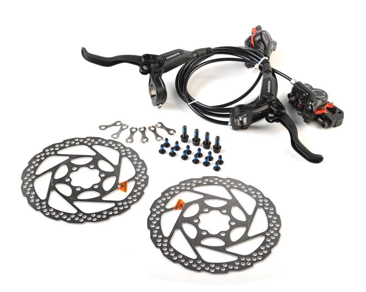 Shimano Deore Disc Brakes Set BL-M506//BR-M447 Rear Wheel 1450mm Black