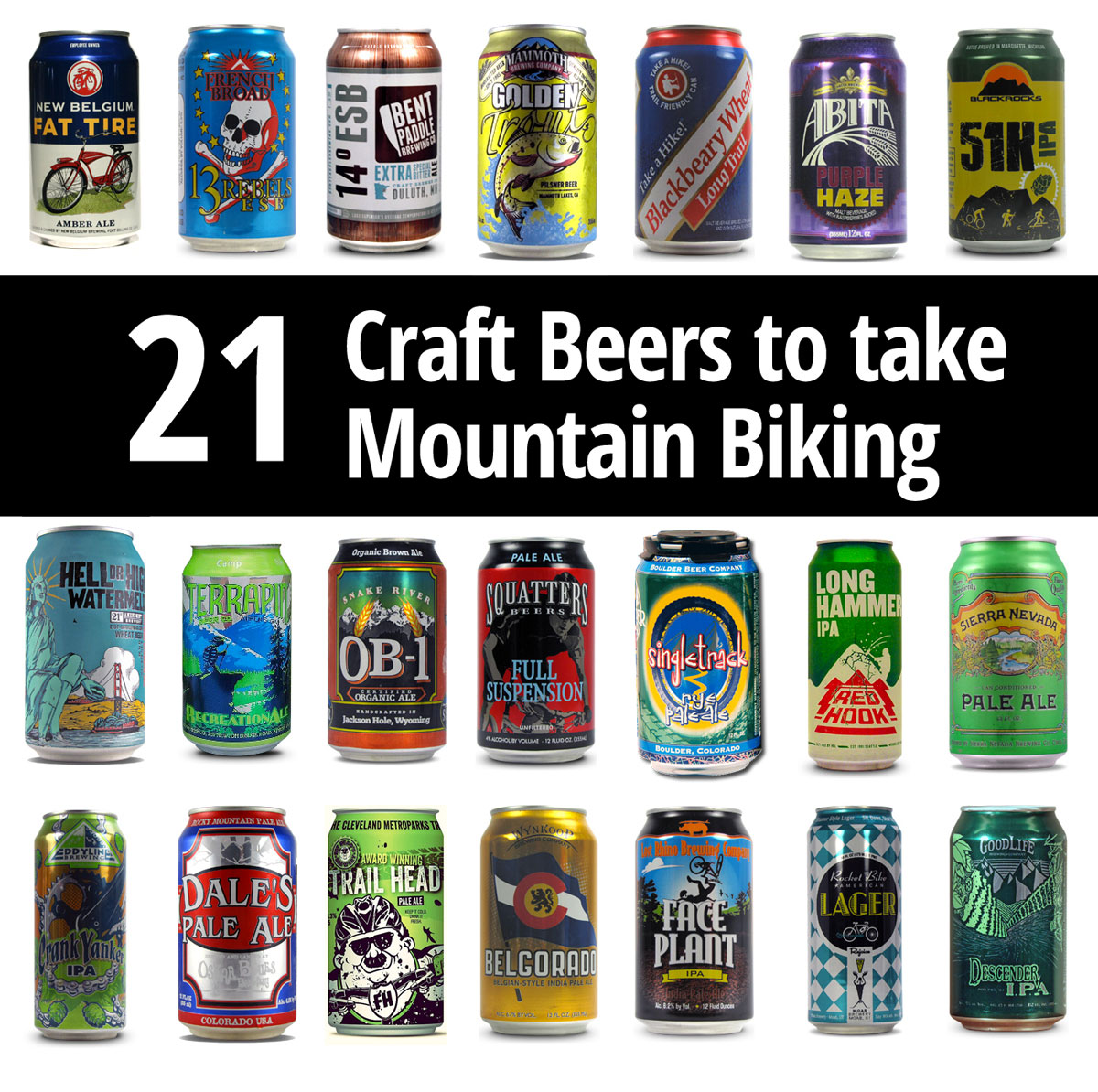 The Mountain Biker's Guide to the Best Packable Beers