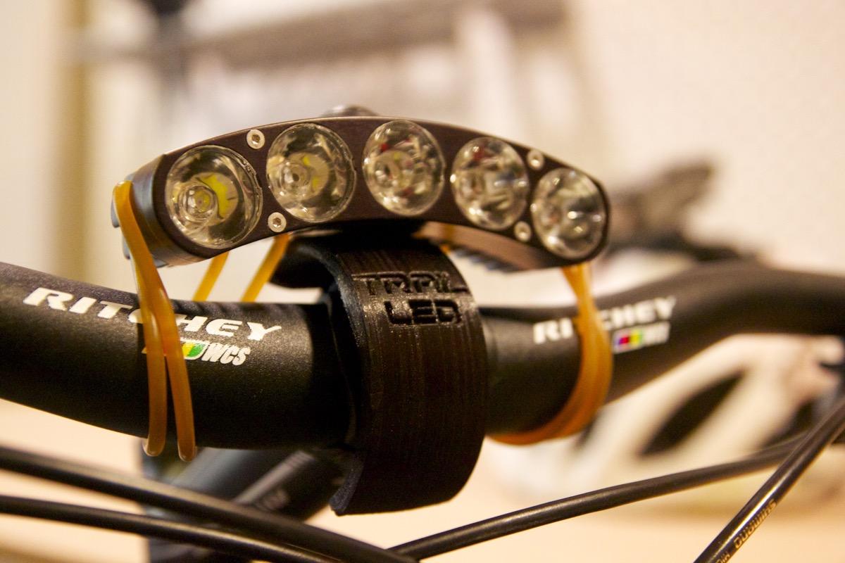 review trail led 3000 lumen bike light singletracks. Black Bedroom Furniture Sets. Home Design Ideas
