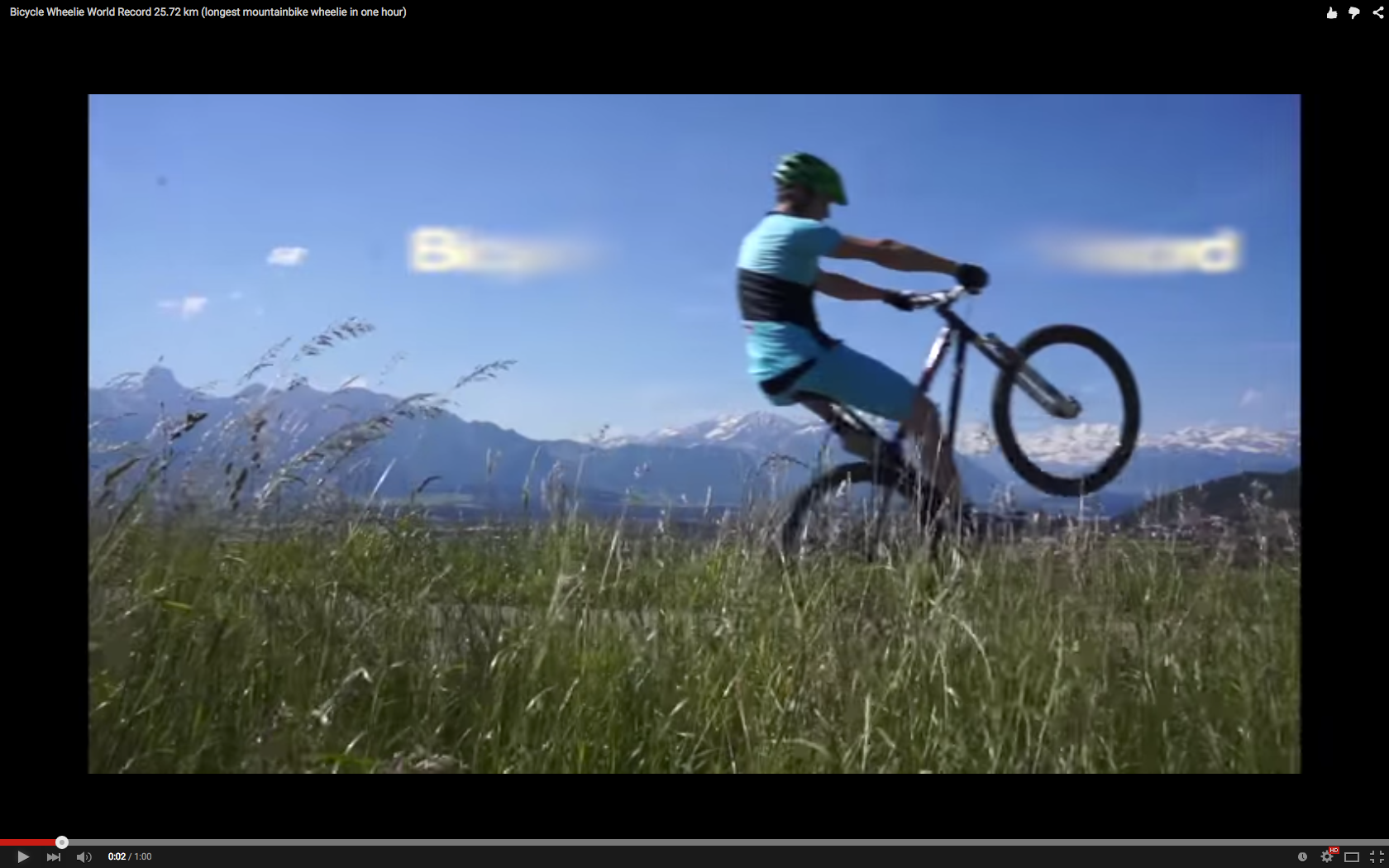 World Record Video Longest Mtb Wheelie In 1 Hour 25 72km