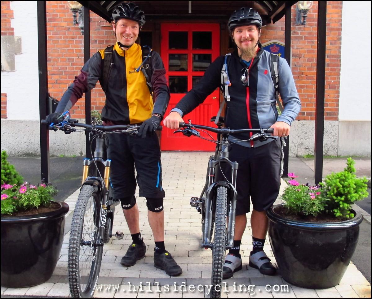 Rolling out the door of Tidbloms Hotel. Riders: Leo Ranta, Greg Heil. Photo: Natasja Jovic.