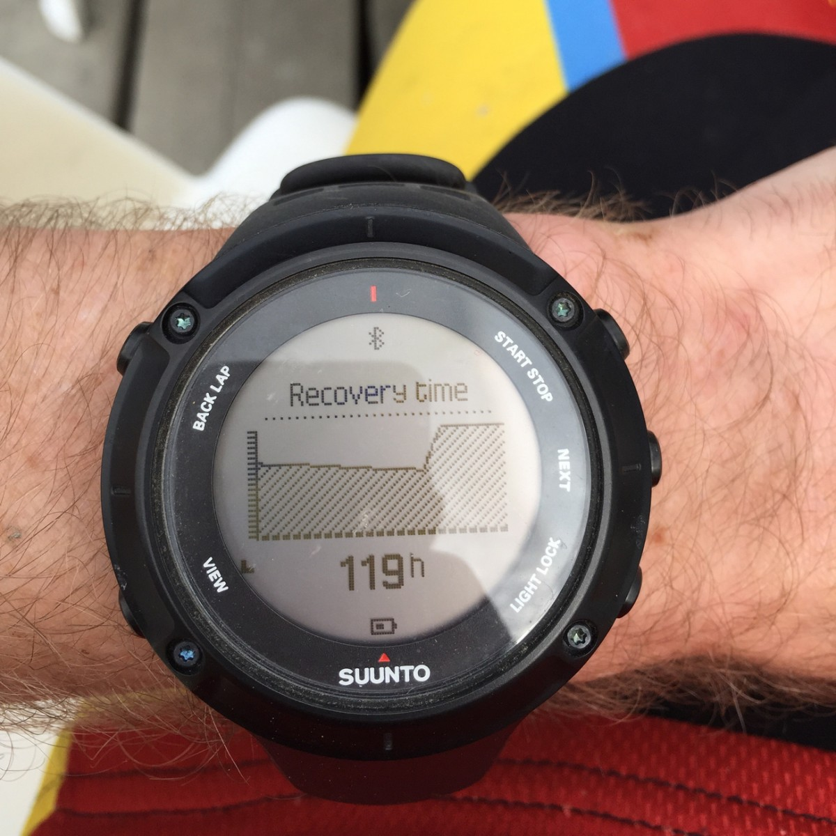 Review Suunto Ambit3 Peak Gps Unit Singletracks Mountain Bike News Sapphire Black Hr Watch For Outdoor Sports After Each Exercise The Will Calculate Your Recovery Time Based On How Many Calories