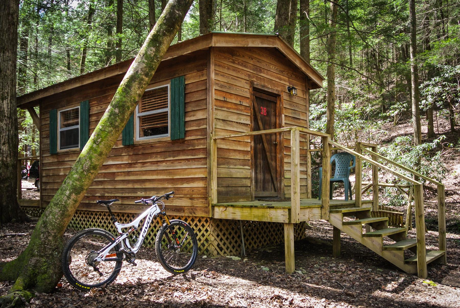 mulberry gap mountain bike getaway cabin
