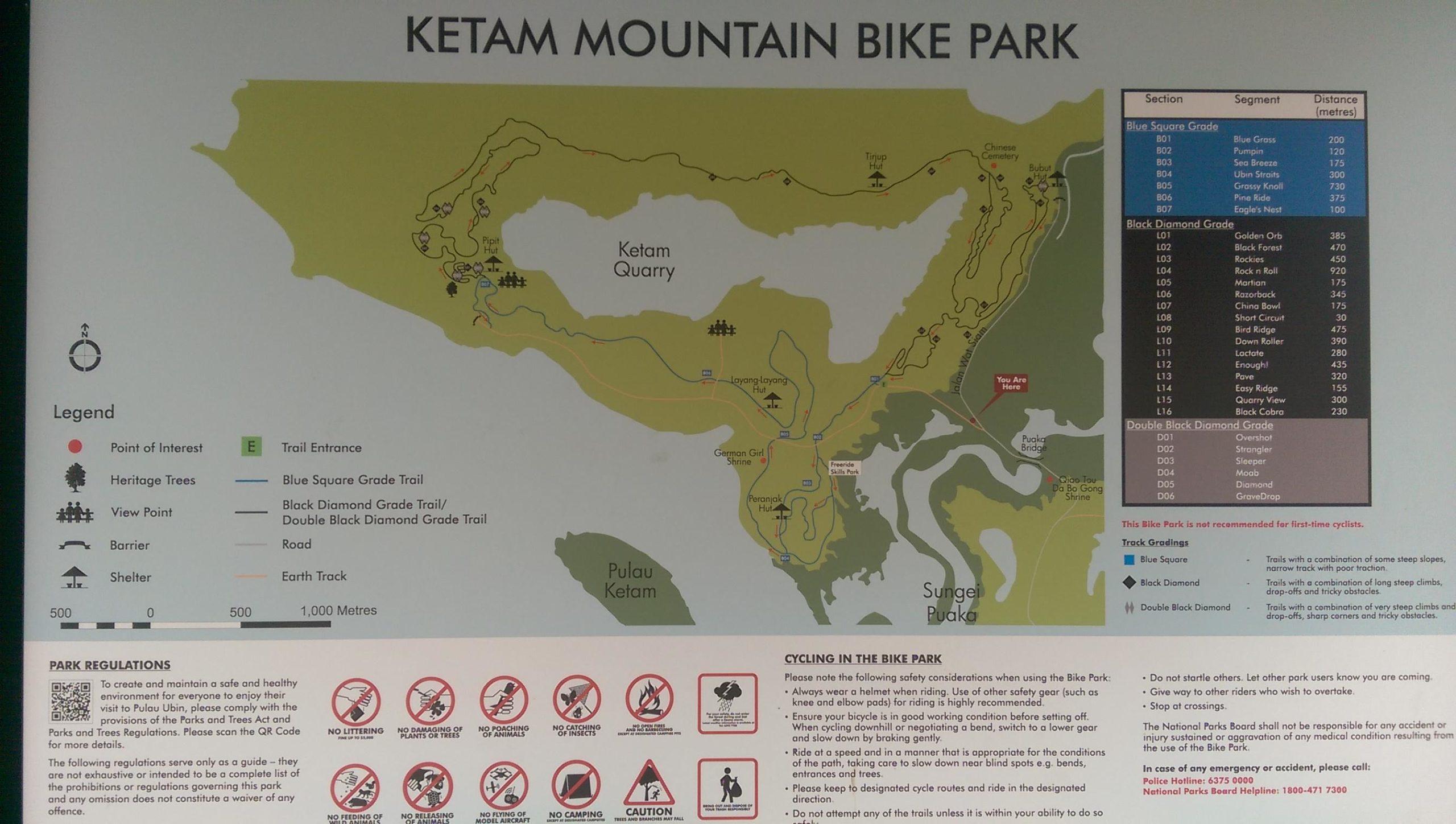 Ketam Bike Park Palau Ubin Mountain Bike Trail In Singapore Singapore Directions Maps Photos And Reviews