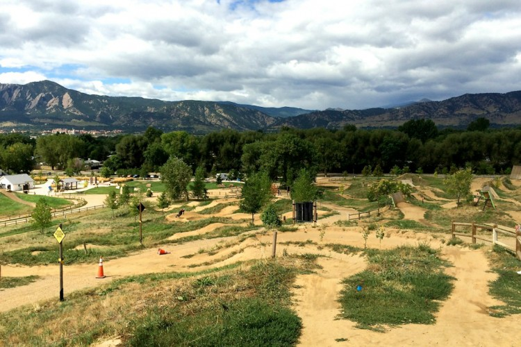 Valmont Bike Park Mountain Bike Trail in Boulder, Colorado