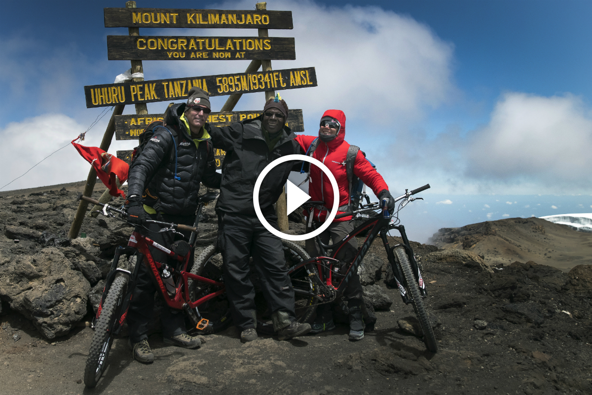Must Watch: Mountain Biking 19,341-foot Mt Kilimanjaro