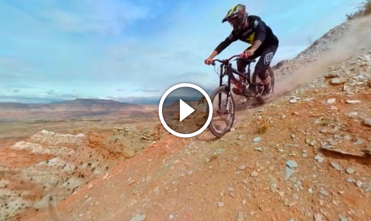 Watch: Virtual Reality Comes to Mountain Biking - Red Bull Rampage with Cam Zink
