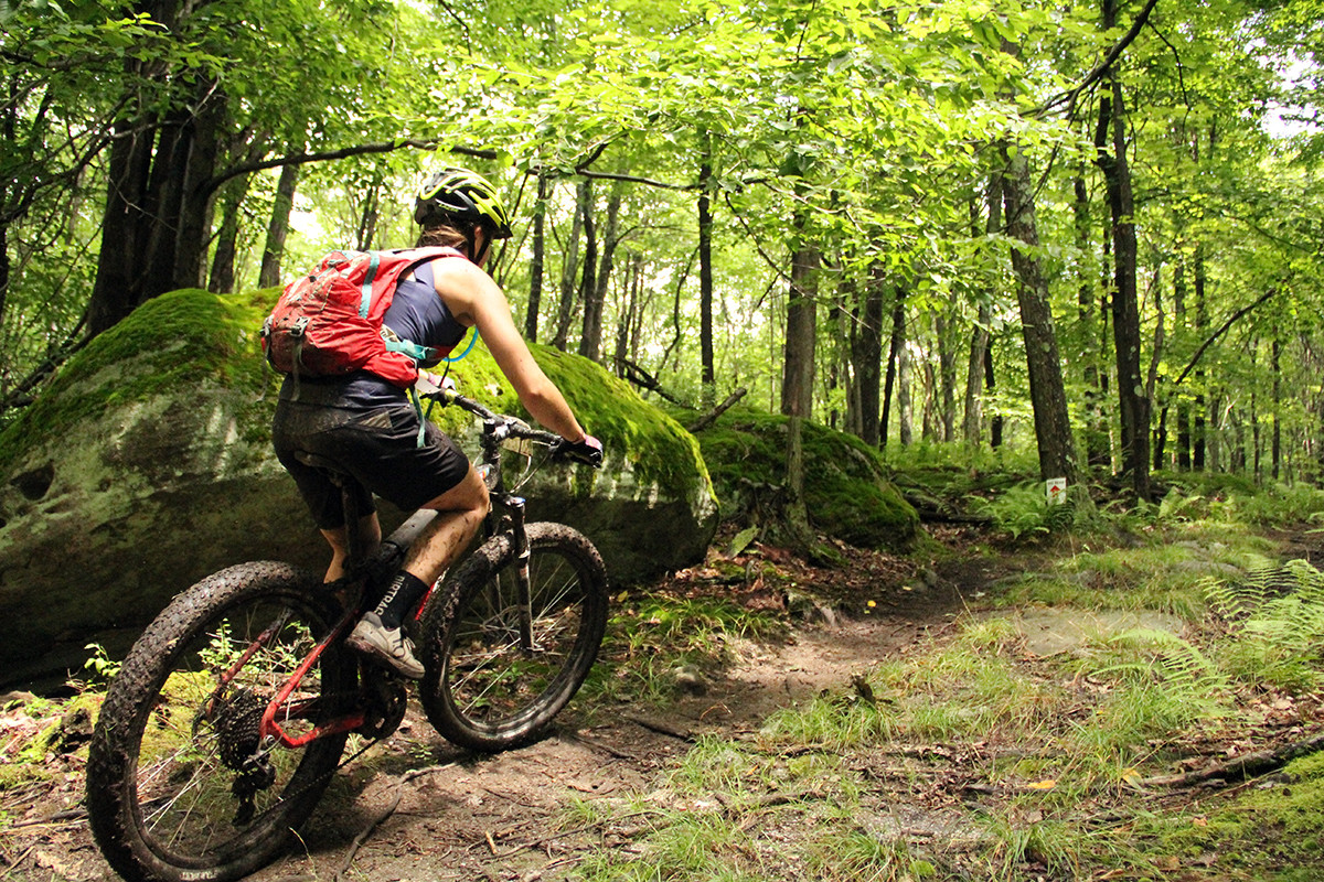 Riding the Framed Marquette in my first MTB race, the Big Bear Ultra in WV. Photo: Derek Bissett.