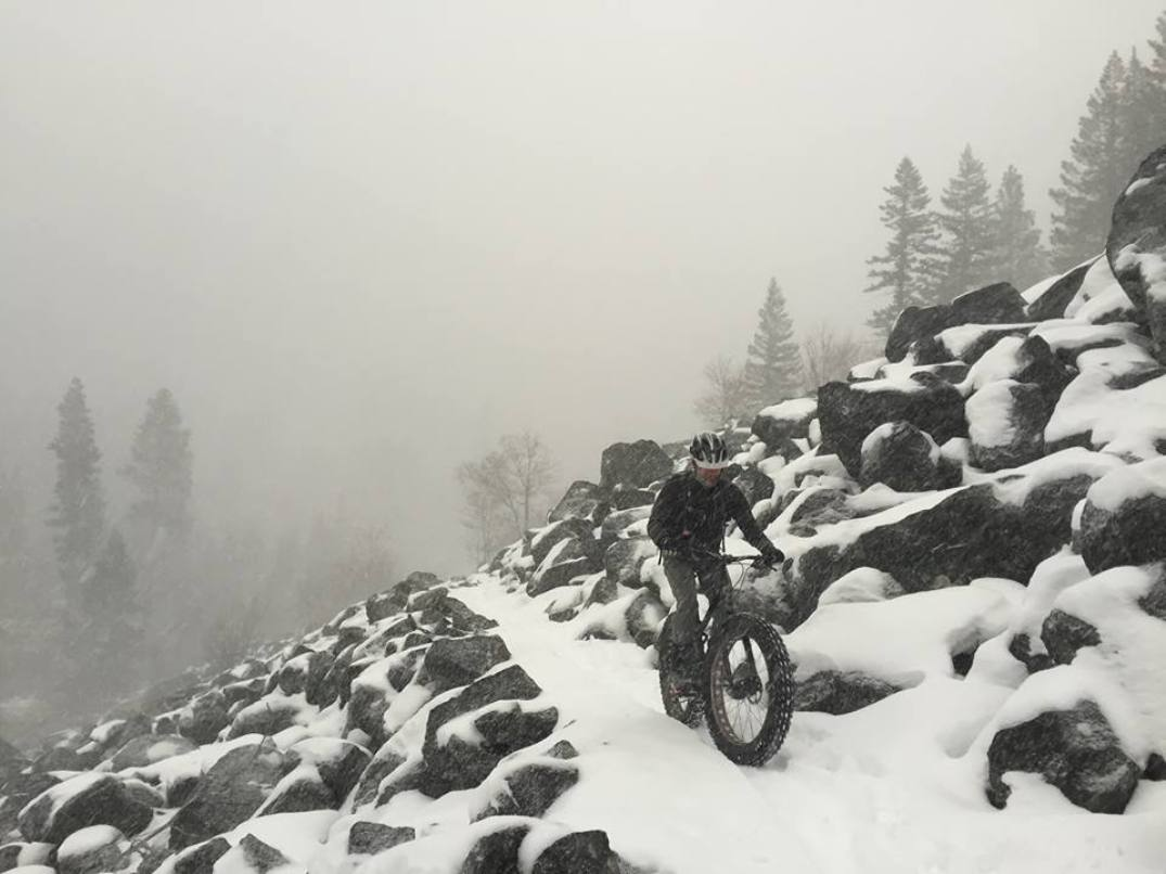Even winter can't stop the hardy from riding the Montana mountains -- but now, a USFS ruling may. (photo: Bitterroot Backcountry Cyclists)