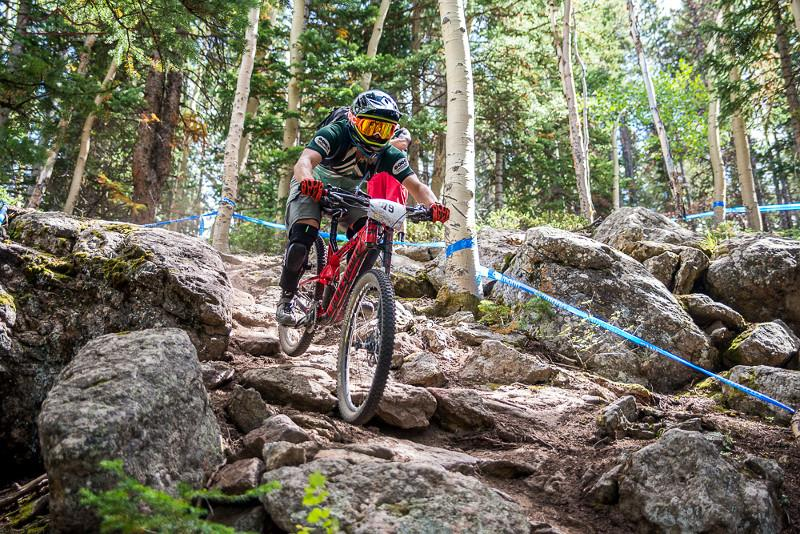 "Yours truly racing ""enduro"" in the classic sense of the word. Photo: Nick Ontiveros / Big Mountain Enduro"