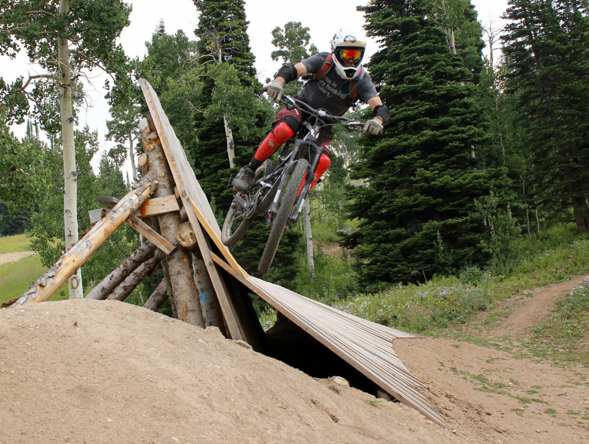In his early 50s, Micheal Woodruff still sends bigger jumps than I'm willing to attempt.