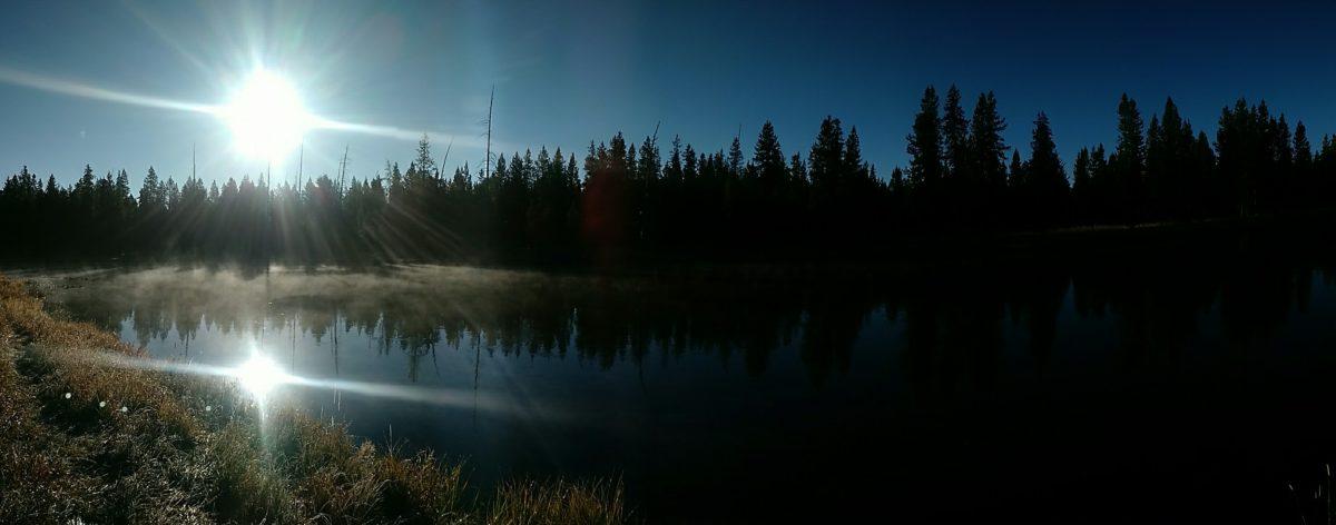 The beautiful Buffalo River, Island Park, Idaho.