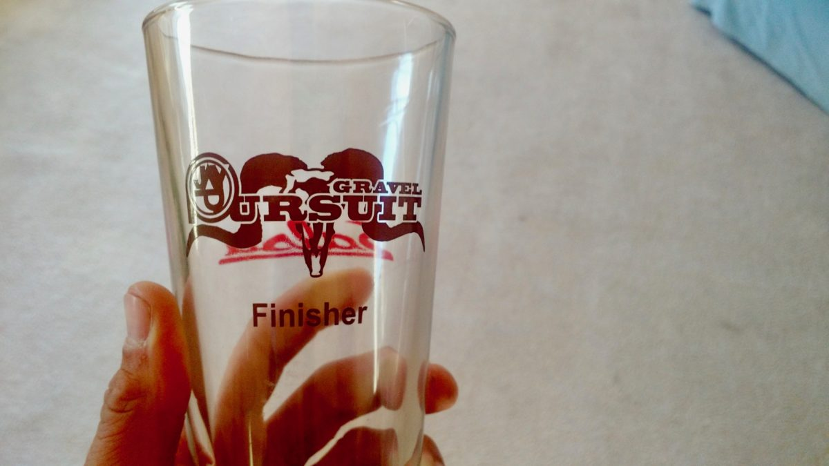 Finisher pint glass.
