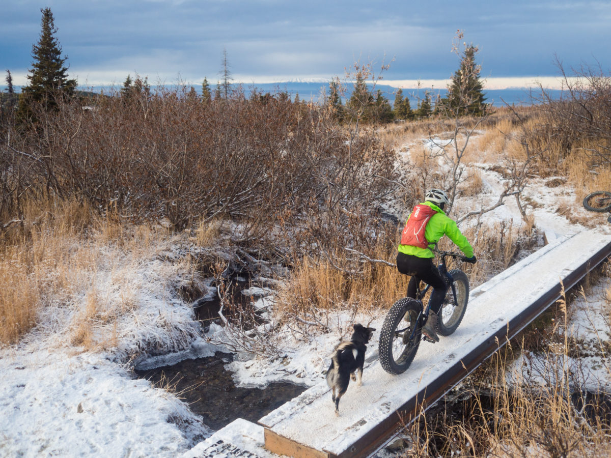 Narrow bridge, fat bike Photo Credit : Libby Kugel (Instagram : @libbichanga)