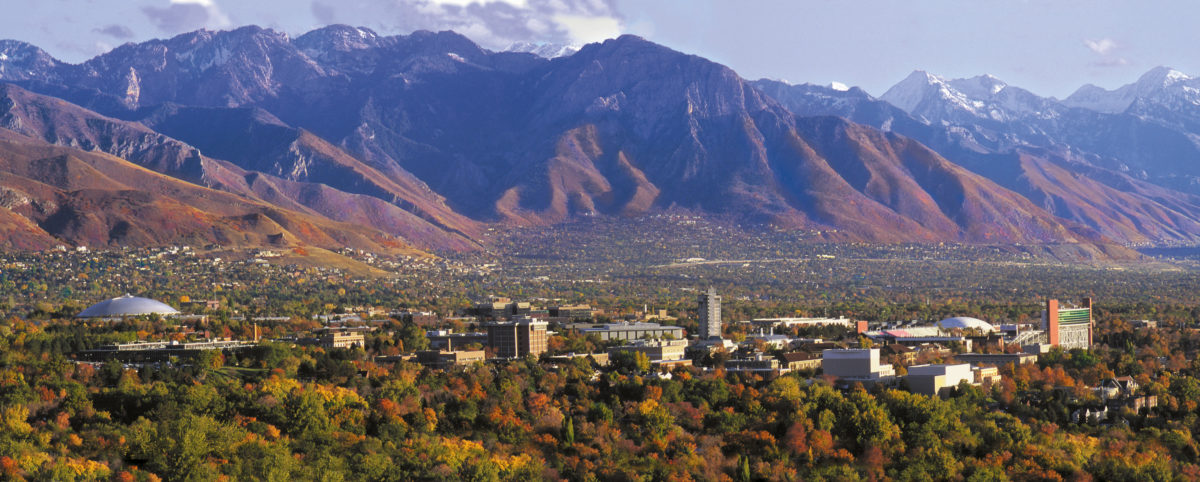 Pretty dang tough to beat this view from campus! Photo: utah.edu