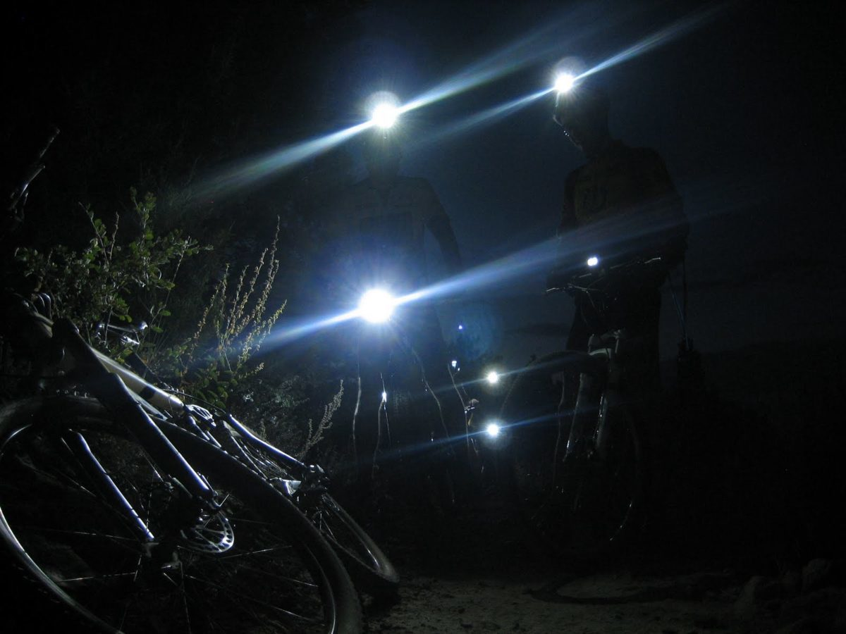 You can take your night riding almost anyplace you can ride in the daytime.