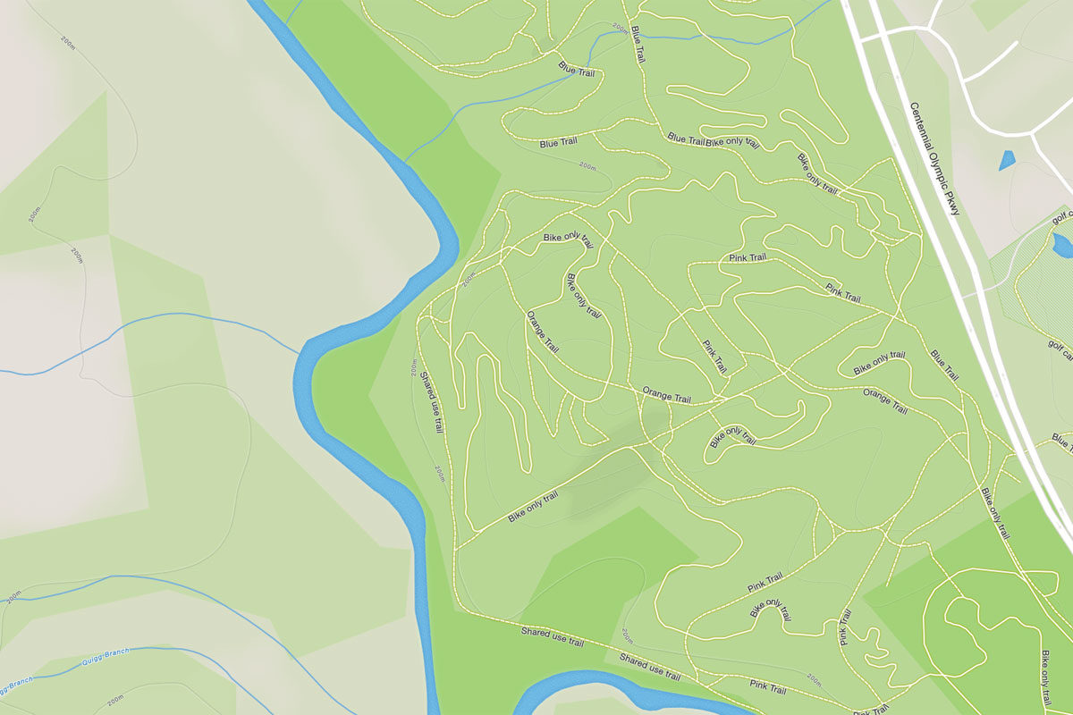 Open Street Map data rendered by Map Box, and utilized by Strava.