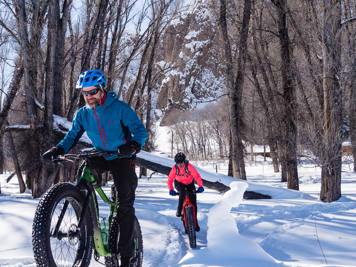 Jonathan Houck leads the author through the Van Tuyl Ranch trails