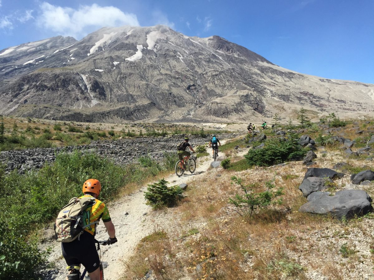 After the lush Ape Canyon climb, the hill continues toward Mt. St. Helens on the Plains of Abraham (photo:JWanamaker)