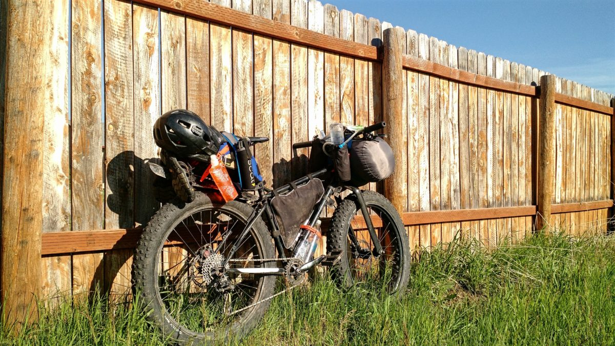 First bikepacking trip of the year -- notice how overloaded the bike is.