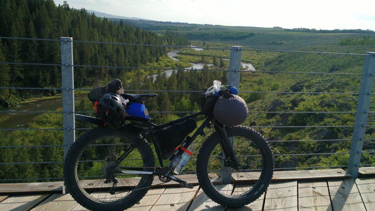First bikepacking trip of the year. Location: Bitch Creek trestle bridge, Teton Valley, Idaho