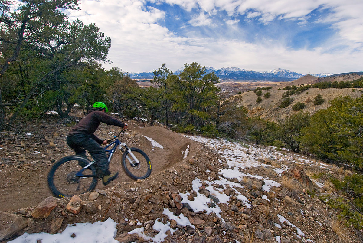 Chicken Dinner is the latest addition to Salida's trail system, pictured here in dry conditions. Photo: Marcel Slootheer.